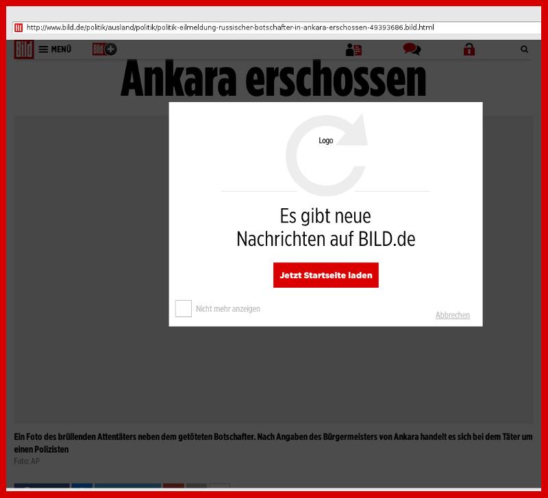 BILD-ZEITUNG: Sabotage in Web-Seiten