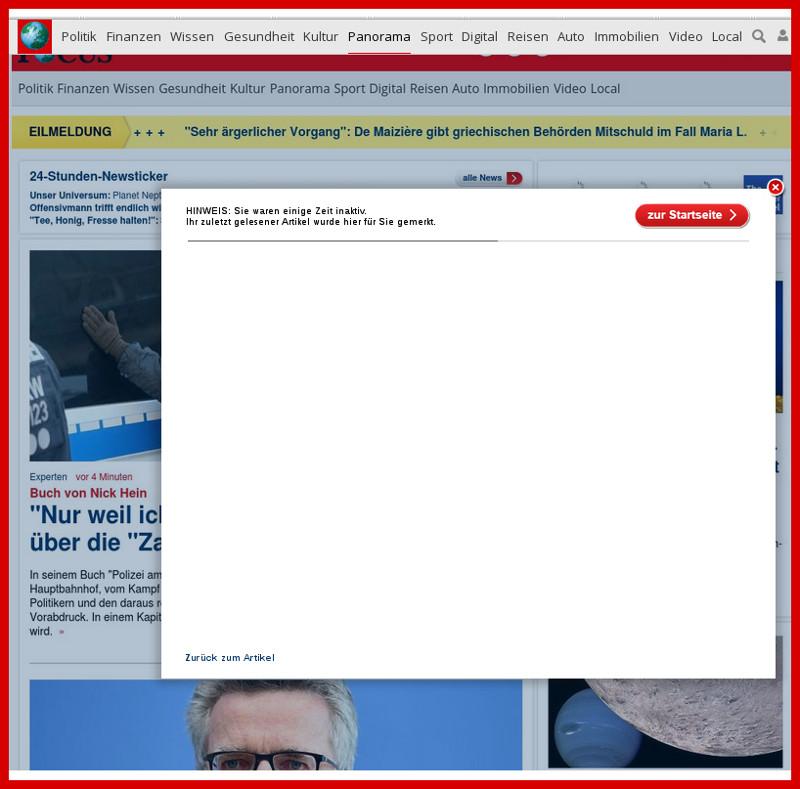 FOCUS: Sabotage in Web-Seiten