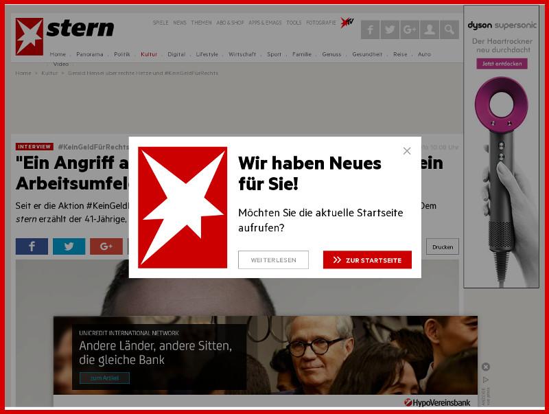 STERN: Sabotage in Web-Seiten