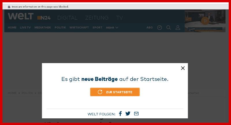 WELT: Sabotage in Web-Seiten